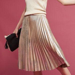 Anthropologie metallic pleat skirt 12